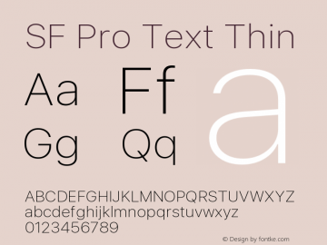 SF Pro Text Thin Version 16.0d18e1图片样张