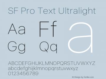 SF Pro Text Ultralight Version 16.0d18e1图片样张