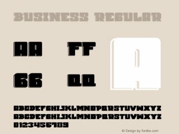 Business Version 1.002;Fontself Maker 3.5.4 Font Sample
