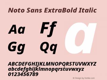 Noto Sans ExtraBold Italic Version 2.003图片样张