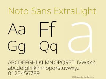 Noto Sans ExtraLight Version 2.003图片样张