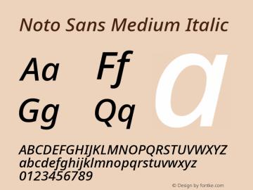 Noto Sans Medium Italic Version 2.003图片样张