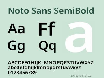 Noto Sans SemiBold Version 2.003图片样张