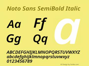 Noto Sans SemiBold Italic Version 2.003图片样张