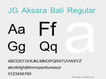 Jg Aksara Bali Font Jgaksarabali Font Jg Aksara Bali Macromedia Fontographer 4 1 10 4 2003 Vers 2 0 Font Ttf Font Uncategorized Font Fontke Com