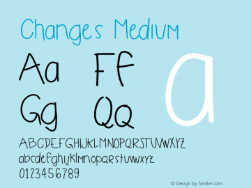 Changes Medium Version 001.000图片样张