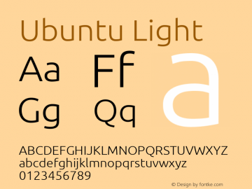Ubuntu Light Regular 0.83 Font Sample