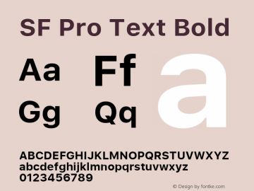 SF Pro Text Bold 13.0d1e33图片样张