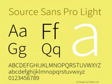 Source Sans Pro Light Regular Version 2.020;PS 2.0;hotconv 1.0.86;makeotf.lib2.5.63406图片样张