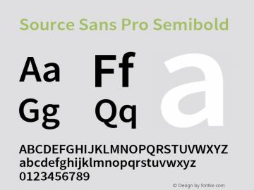 Source Sans Pro Semibold Regular Version 2.020;PS 2.0;hotconv 1.0.86;makeotf.lib2.5.63406图片样张