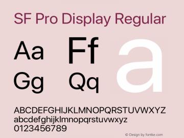 SF Pro Display Regular Version 02.0d2e1图片样张