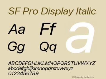 SF Pro Display Italic Version 13.0d3e20图片样张