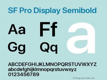 SF Pro Display Semibold Version 13.0d3e20图片样张