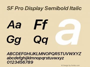 SF Pro Display Semibold Italic Version 13.0d3e20图片样张