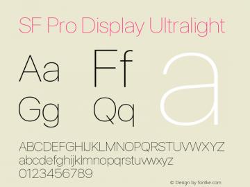 SF Pro Display Ultralight Version 13.0d3e20图片样张