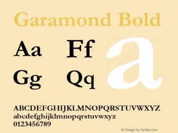 Garamond Font,Garamond Bold Font,Garamond-Bold Font Garamond