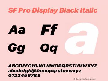 SF Pro Display Black Italic Version 13.0d3e20图片样张