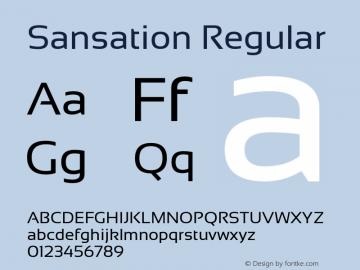 Sansation Regular Version 1.301 Font Sample