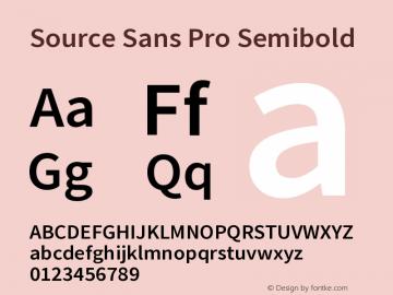Source Sans Pro Semibold Version 2.020;PS 2.0;hotconv 1.0.86;makeotf.lib2.5.63406图片样张