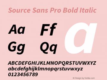 Source Sans Pro Bold Italic Version 1.075;PS 2.0;hotconv 1.0.86;makeotf.lib2.5.63406图片样张