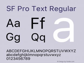 SF Pro Text Regular 13.0d1e33; ttfautohint (v0.97) -l 8 -r 50 -G 200 -x 14 -f dflt -w G图片样张