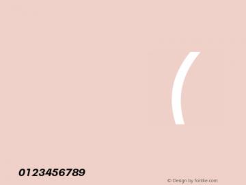 Neue Plak Text Bold Italic Version 1.00, build 10, s3图片样张