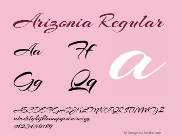 Arizonia Regular Version 1.004 Font Sample