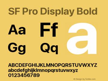 SF Pro Display Bold Version 13.0d3e20图片样张