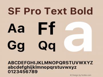 SF Pro Text Bold Version 15.0d4e20图片样张