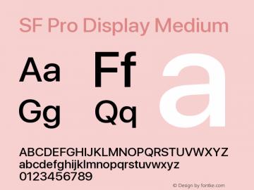 SF Pro Display Medium Version 14.0d2e0图片样张