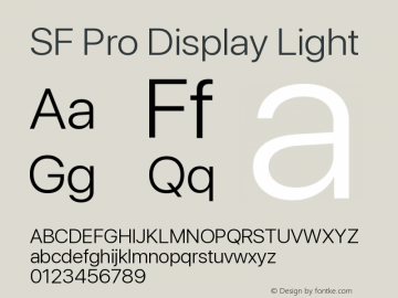 SF Pro Display Light Version 14.0d2e0图片样张