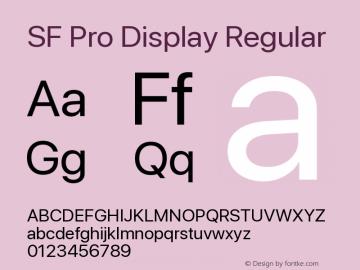 SF Pro Display Regular Version 14.0d2e0图片样张