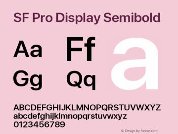 SF Pro Display Semibold Version 14.0d2e0图片样张