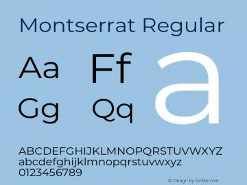 Montserrat Regular Version 7.200;PS 007.200;hotconv 1.0.88;makeotf.lib2.5.64775 Font Sample