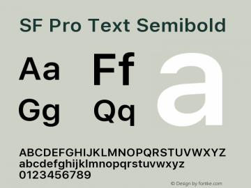 SF Pro Text Semibold 13.0d1e33图片样张