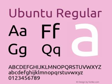 Ubuntu Version 0.80 Font Sample