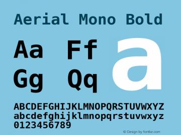 Aerial Mono Bold Version Release 2.02图片样张