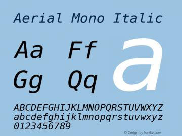 Aerial Mono Italic Version Release 2.02图片样张