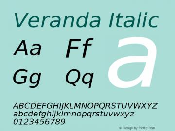 Veranda Italic Release 1.99图片样张