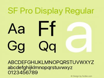 SF Pro Display Regular Version 13.0d3e20图片样张