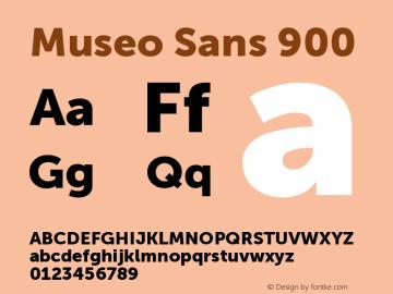 MuseoSans-900 1.000 Font Sample