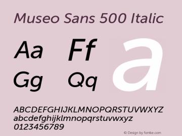 MuseoSans-500Italic 1.000 Font Sample