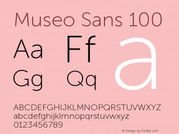 MuseoSans-100 1.000 Font Sample
