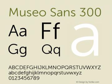 MuseoSans-300 1.000 Font Sample