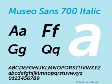 MuseoSans-700Italic 1.000 Font Sample