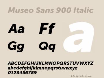 MuseoSans-900Italic 1.000 Font Sample