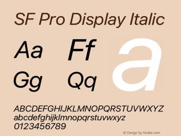 SF Pro Display Italic Version 13.0d3e20 Plus图片样张