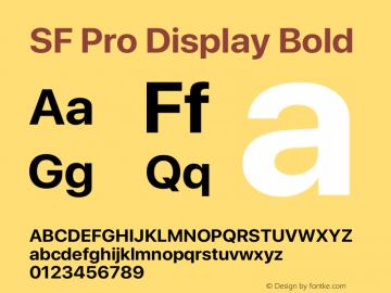 SF Pro Display Bold Version 13.0d3e20 Plus图片样张