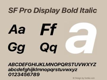SF Pro Display Bold Italic Version 13.0d3e20 Plus图片样张