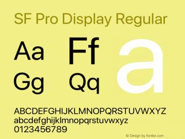 SF Pro Display Regular Version 13.0d3e20 Plus图片样张